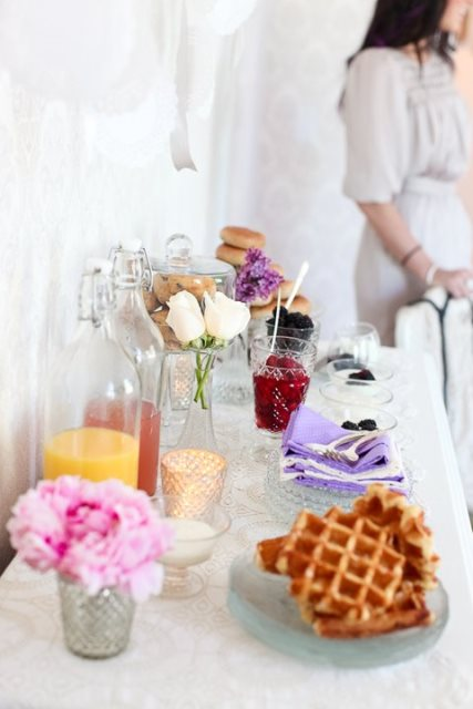 Vintage themed waffle bar-so beautiful