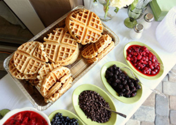 Waffle Bar Set up-Great for a brunch or wedding!