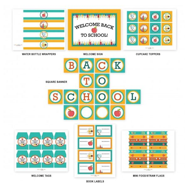 Back To School Free Printables - B. Lovely Events