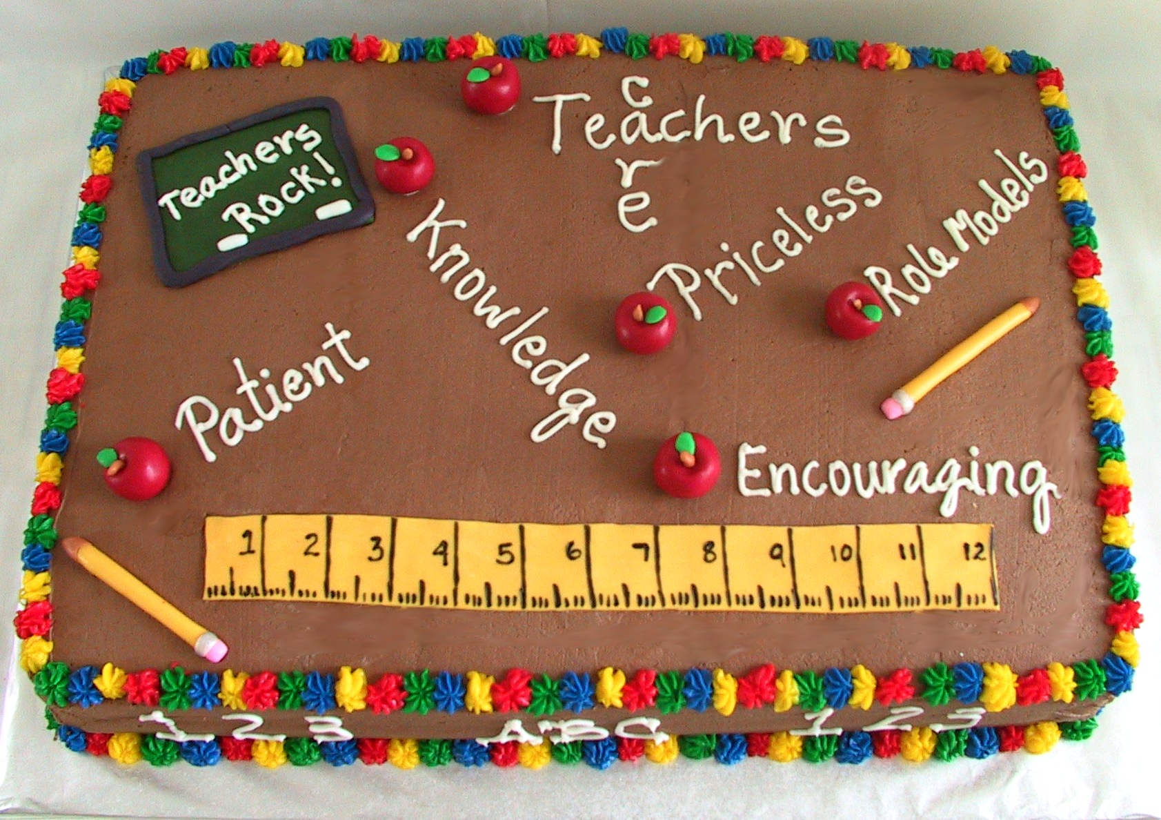 Back To School Party Cake