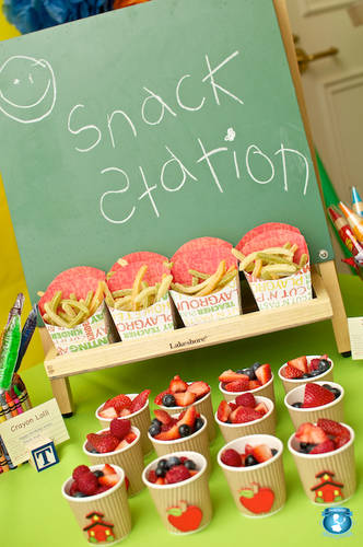 back to school party heathy snack display!