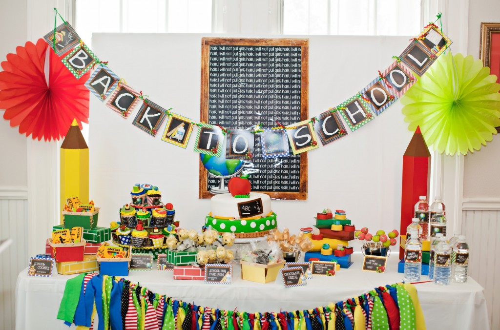 Colorful back to school party