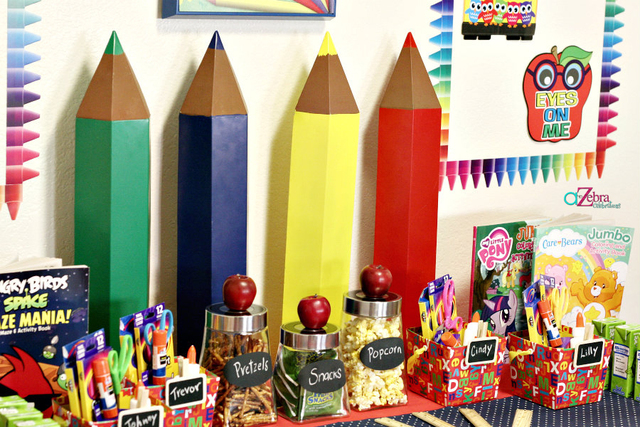 The party fetti blog for Back to school decoration ideas