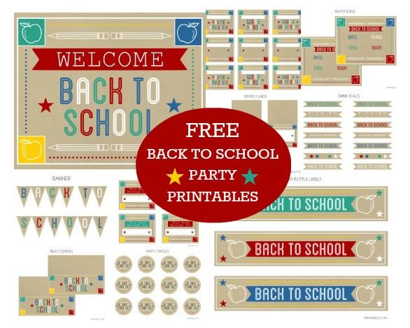 Free Back To School Printable Kit!