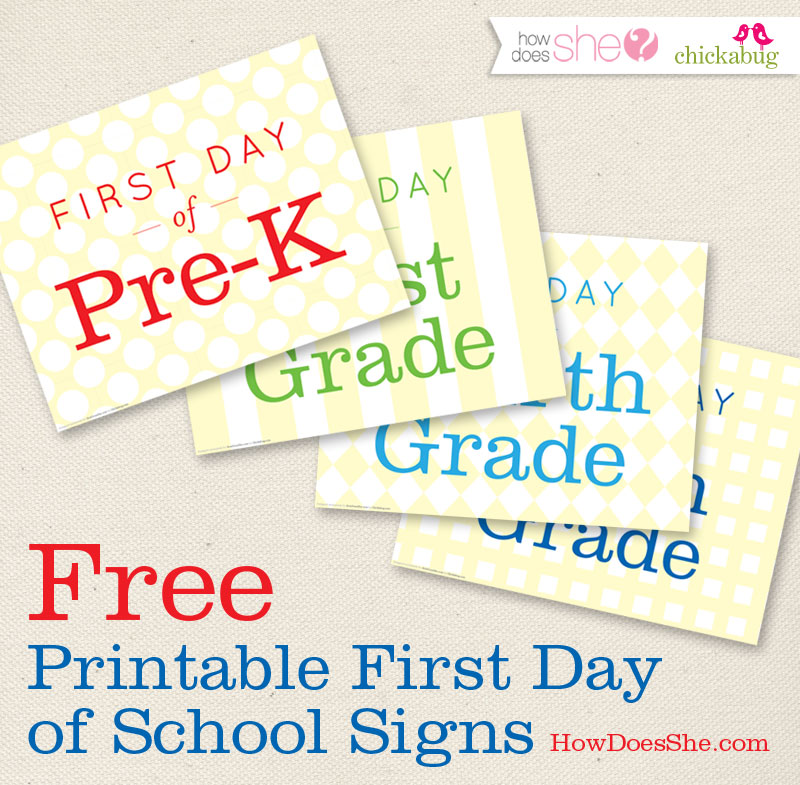 Back to school free printables b lovely events for First day of school sign template