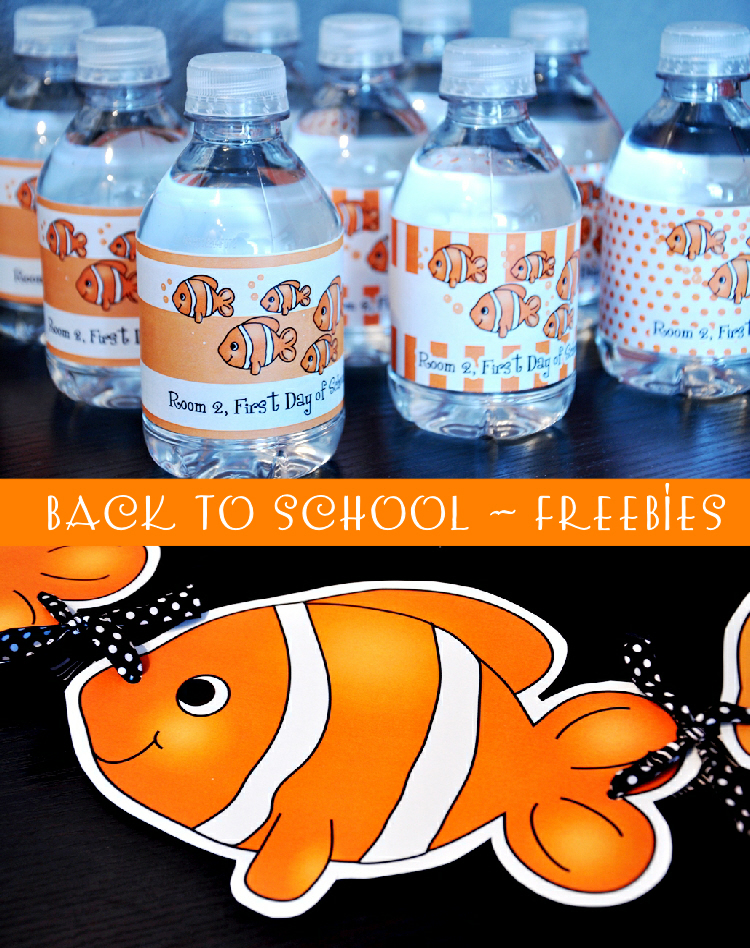 School Of Fishes Themed Free Printables for Back To School Party