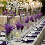 Purple Modern Luxe Wedding Tablescape