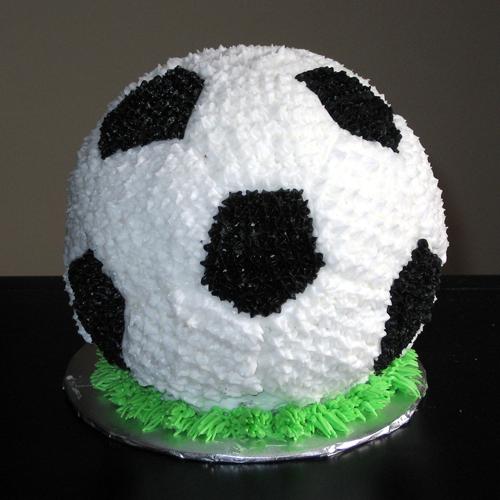 3d soccer grooms cake