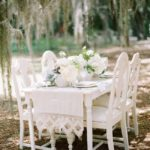 All White Wedding decor-outdoors!