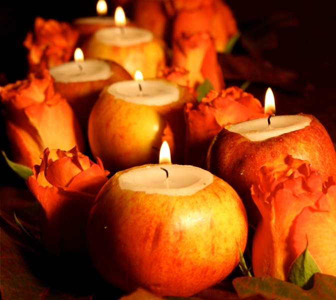 Fall decorating ideas with apples for Apples decoration