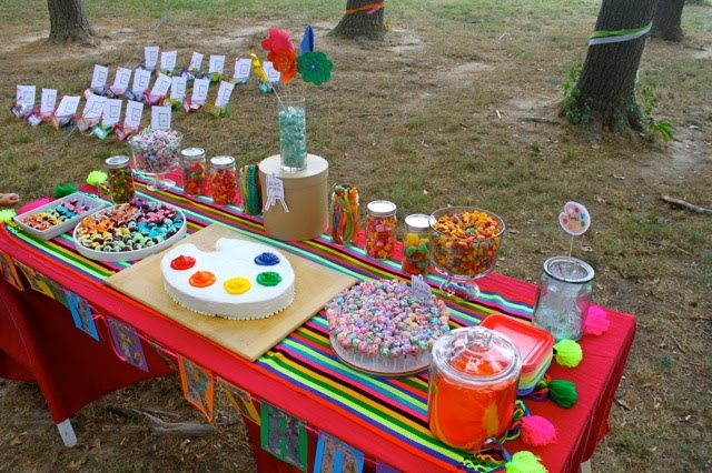 Art Party dessert table