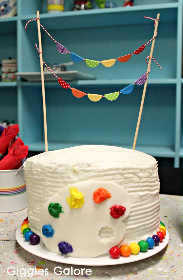 Cake Ideas For Artist : Throw A Lovely Art Party! - B. Lovely Events