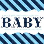 Boy baby shower free printable sign