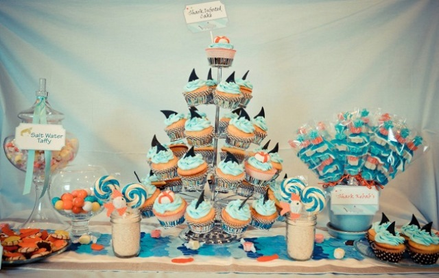 Cute set up for a shark party