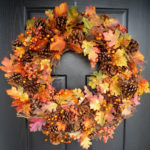 DIY Fall Wreath With Leaves
