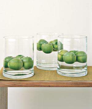 Floating apple decorations