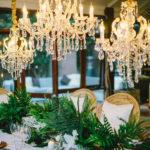 Garden rustic chic wedding tablescape
