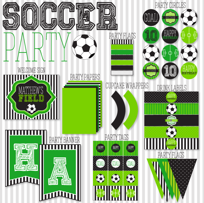 Score!!! Soccer Party Printables!! - B. Lovely Events