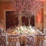 Lovely Spring Tablescape With Blossoming Tree Centerpiece