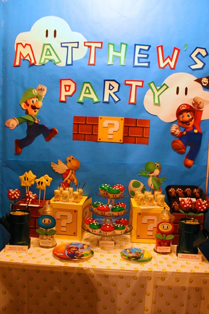 Mario Themed Birthday Party Desserts-B. Lovely Events