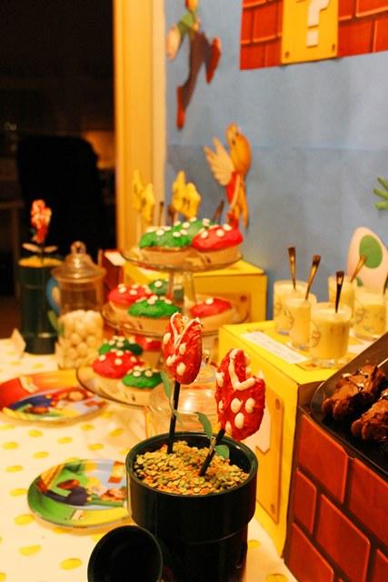 Mario themed Birthday Party dessert bar-B. Lovely Events