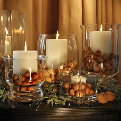 Nuts for Fall Decor-Love this Idea