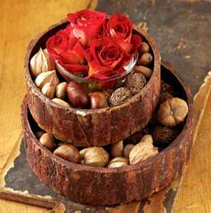 Nuts in Fall Centerpieces