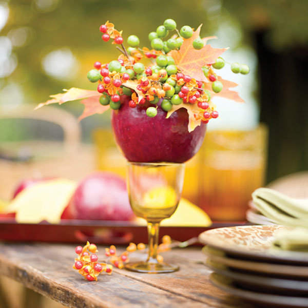 Fall decorating ideas with apples for Apple decoration ideas