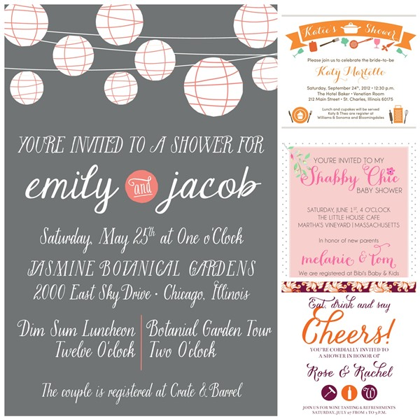 Small Moments Bridal and Baby shower Invitations 1