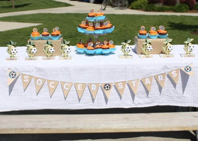 Soccer Ball Cupcake Topper Free Printables!