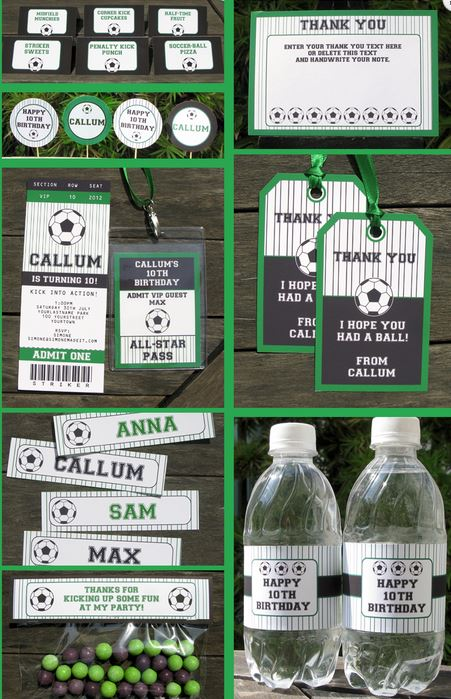 Soccer Party Printable Set
