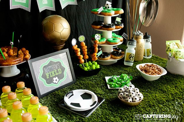 Soccer Party food spread
