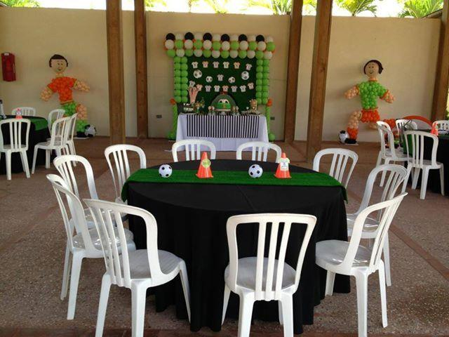Soccer cone and soccer ball centerpieces