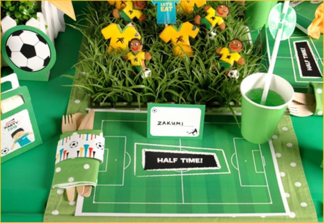 World Cup themed soccer party centerpiece