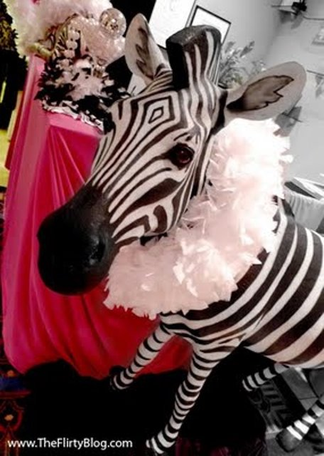 This sweet 16 has zebra print written all over it b for Animal print party decoration ideas