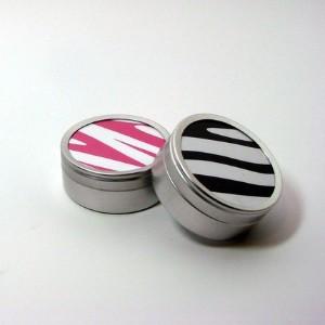 Zebra print favors for a sweet 16