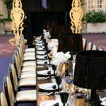 black and gold elegant tablescape