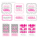 girl baby shower free printables
