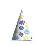 paw print puppy party hat