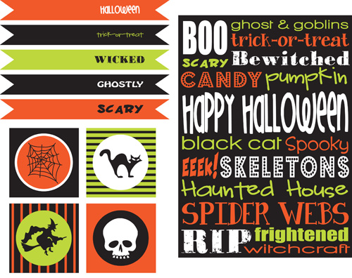 Amazing Halloween Free Printable Set