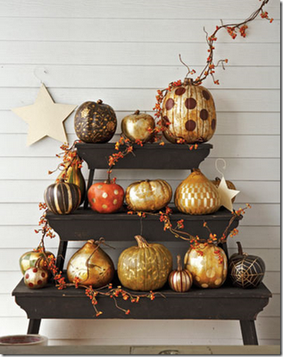 Amazing metallic pumpkins