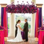 Beautiful Purple and pink ceremony flowers