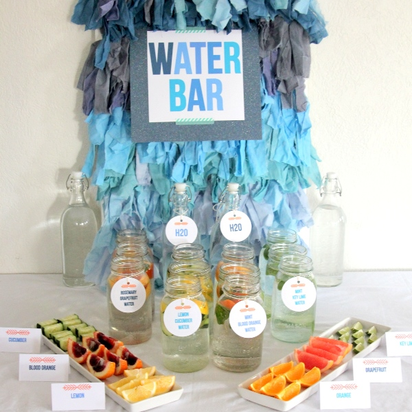 Blue Ombre drink station