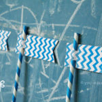 Blue Party Straws
