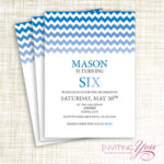 Blue ombre party invitation