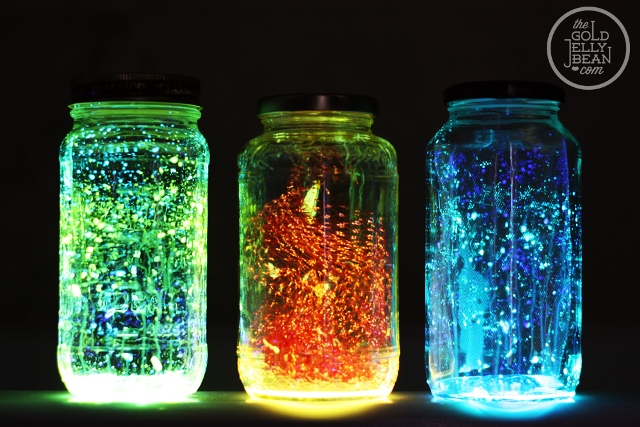DIY Glow Jars For A Sweet 16 Glow In The Dark