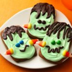 Gingerbread frankenstein cookies!