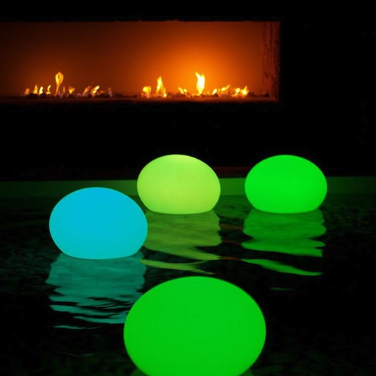 Glowstick Decor For The Pool