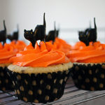 Halloween Cupcakes With Black cats