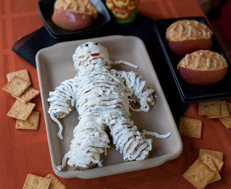 Halloween Mummy Cheese Dip!